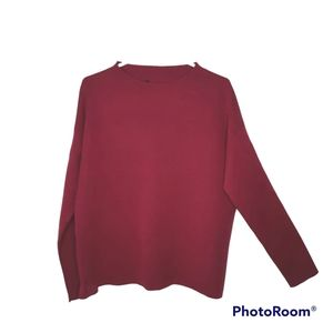 Eileen Fisher 100% Merino Wool Boxy Style Oversize Popover Knit Sweater Size S